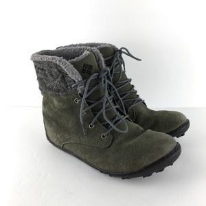 Columbia Powder Summit Shorty Green Boots Size 7.5